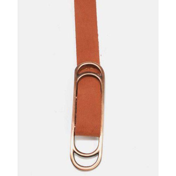 Wraparound Slider Belt - Tan&Br Ant Copper - Detail