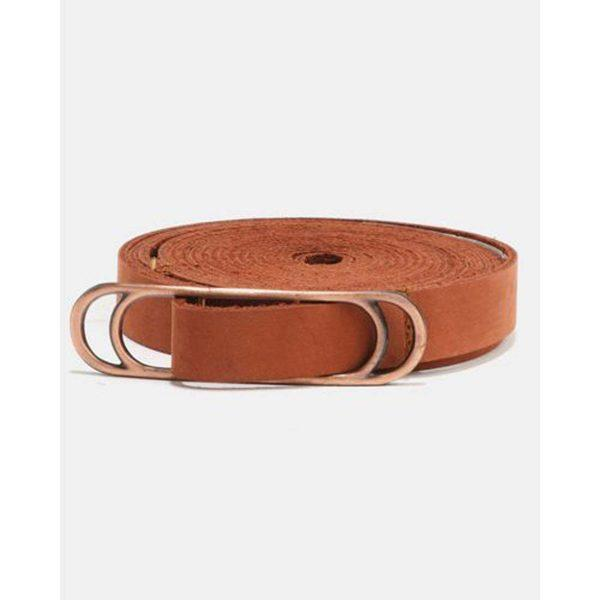Wraparound Slider Belt - Tan&Br Ant Copper - Front