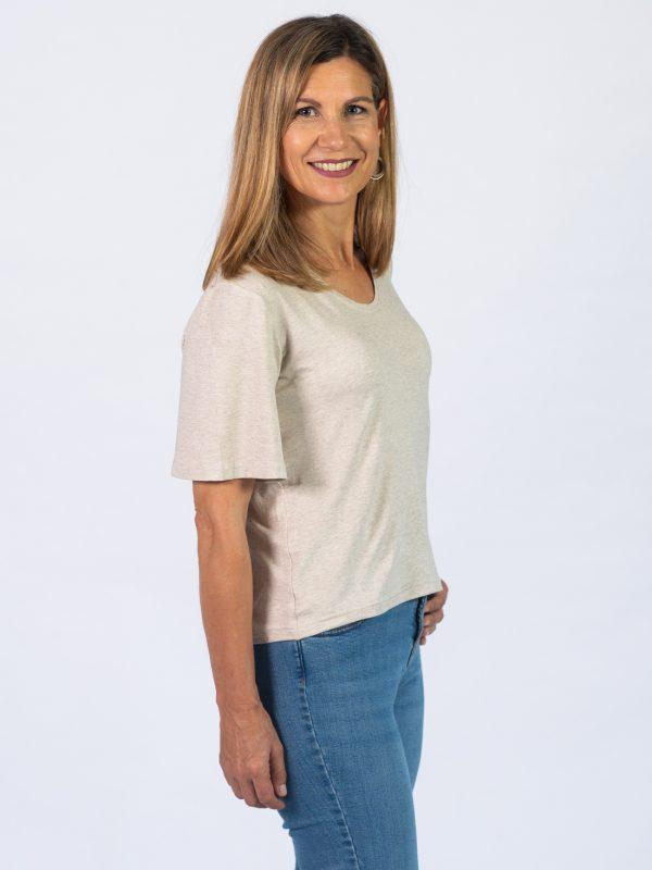 Bell Sleeve Tee - Natural - Side