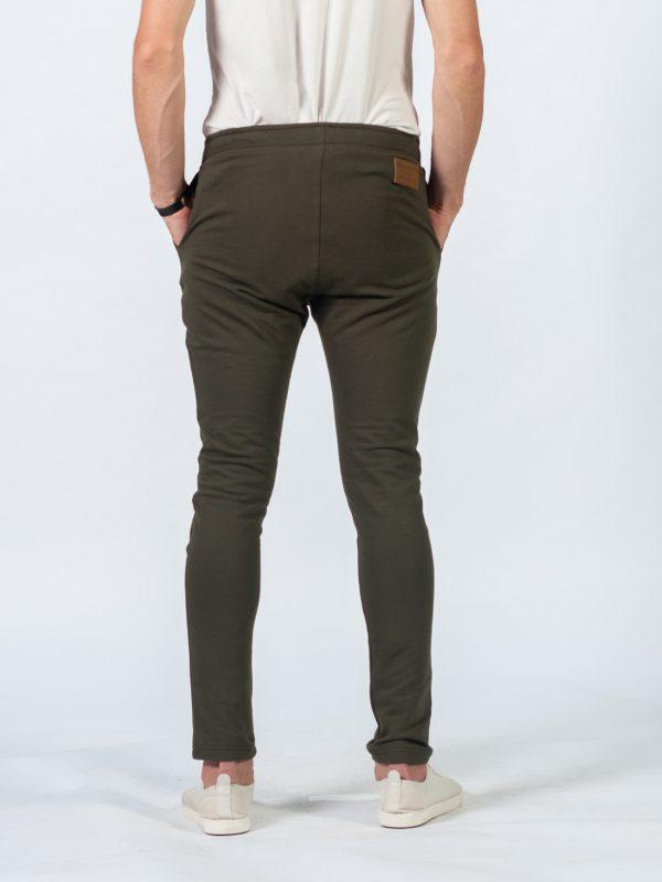 Male Skinny Jogger - Army - Back