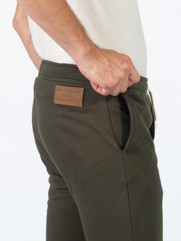 Male Skinny Jogger - Army - Detail 2