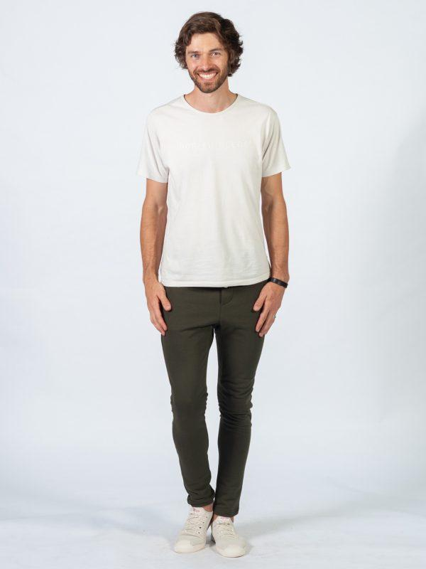 Male Skinny Jogger - Army - Lifestyle shot 1