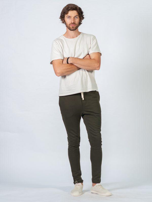 Male Skinny Jogger - Army - Lifestyle shot 2