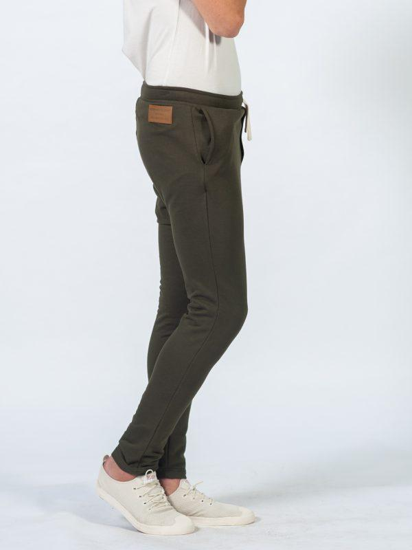 Male Skinny Jogger - Army - Side