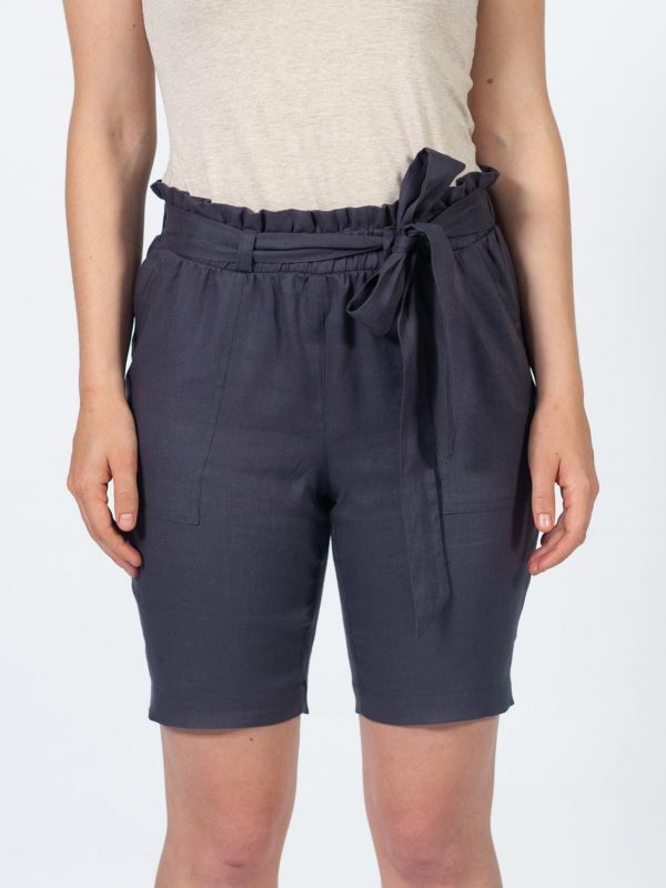 Ladies Leisure Shorts - Slate - Front