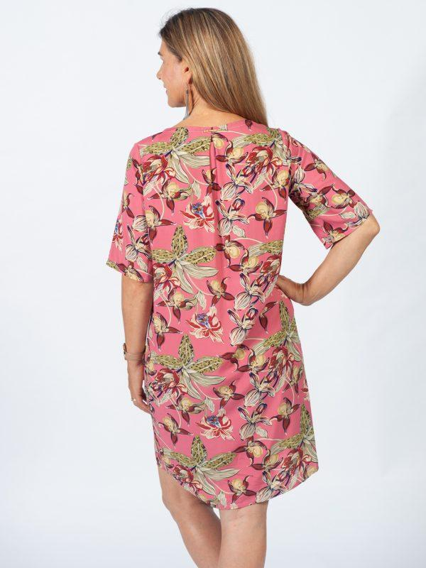 Trendy Tee Dress - Pink Orchid - Back