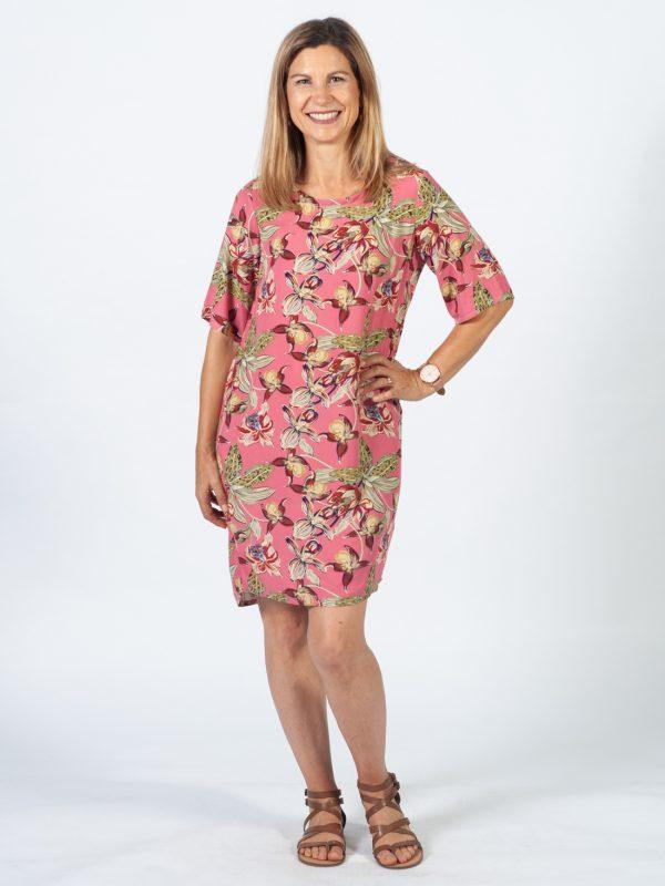 Trendy Tee Dress - Pink Orchid - Lifestyle shot 1