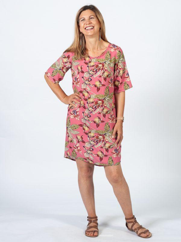 Trendy Tee Dress - Pink Orchid - Lifestyle shot 2