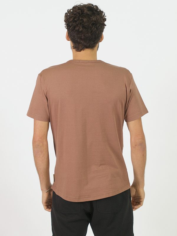 Round Neck Tee - Rose Taupe - Back