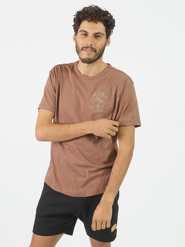 Round Neck Tee - Rose Taupe - Front