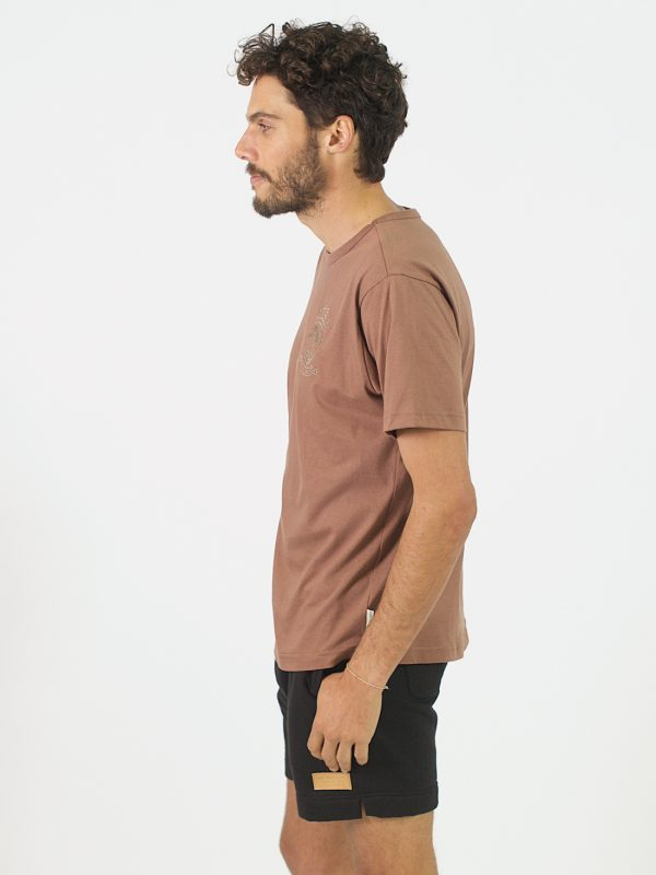 Round Neck Tee - Rose Taupe - Side