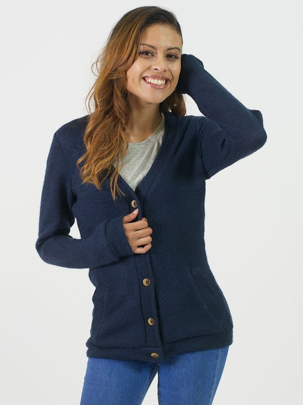 Classic Cardigan - Royal Blue - Front