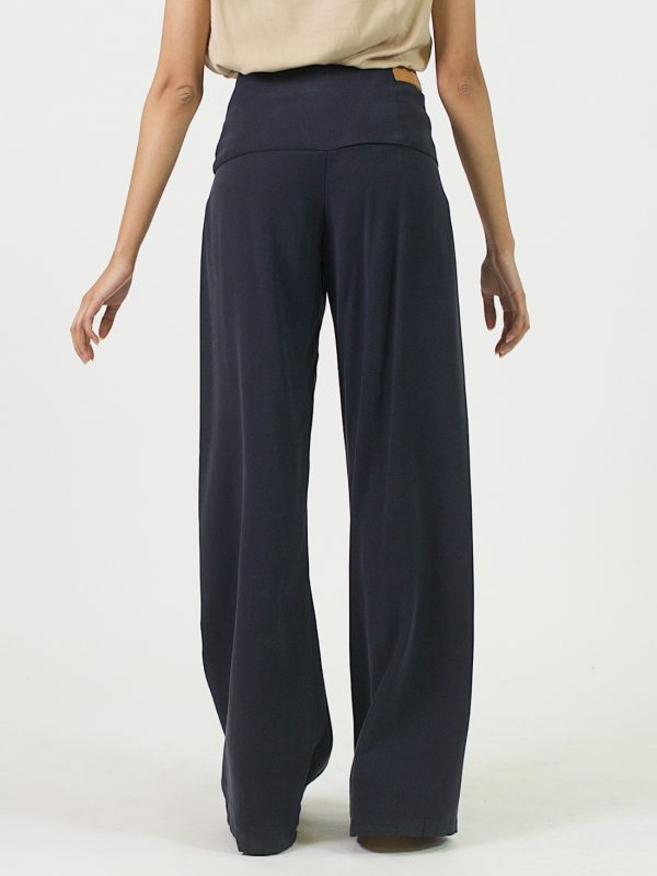 Pleated Trousers - Navy - Back