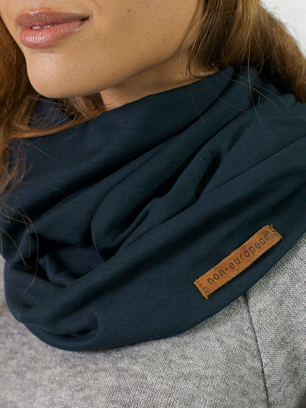 Funnel Scarf - Teal - Detail