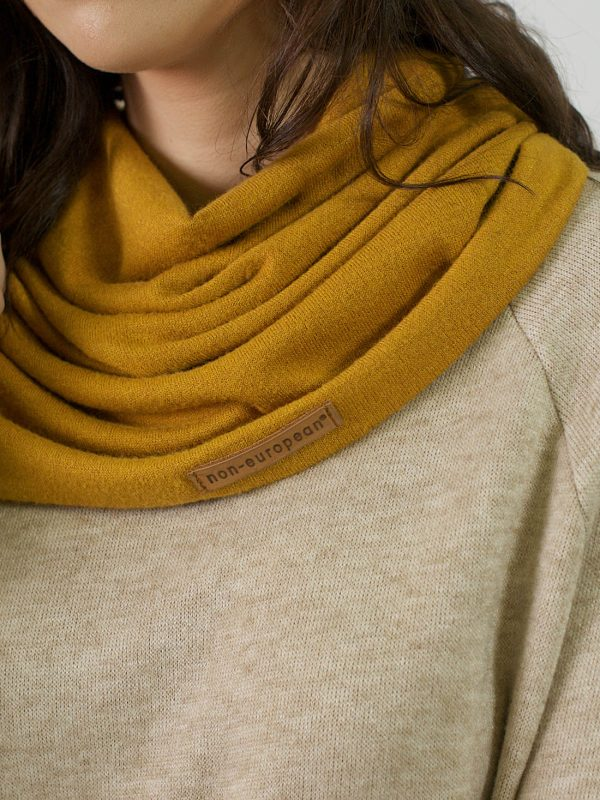 Funnel Scarf - Gold - Front