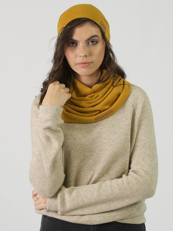 Funnel Scarf - Gold - Lifestyle Shot