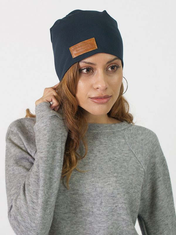 High Top Beanie - Teal - Front 1