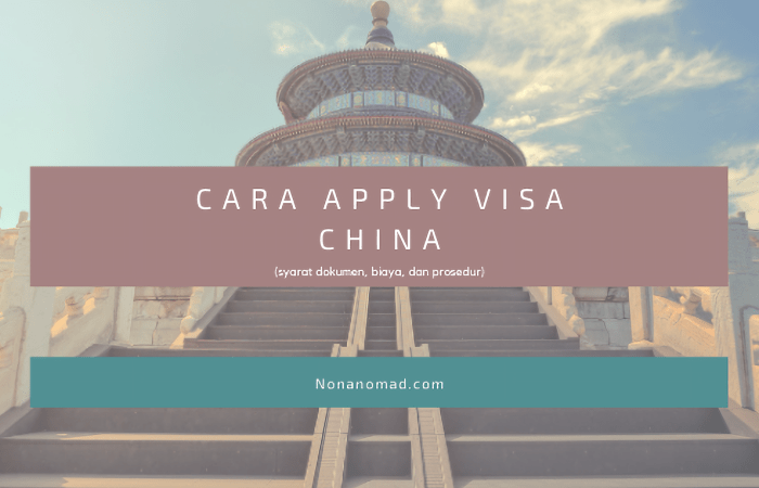 cara apply visa china