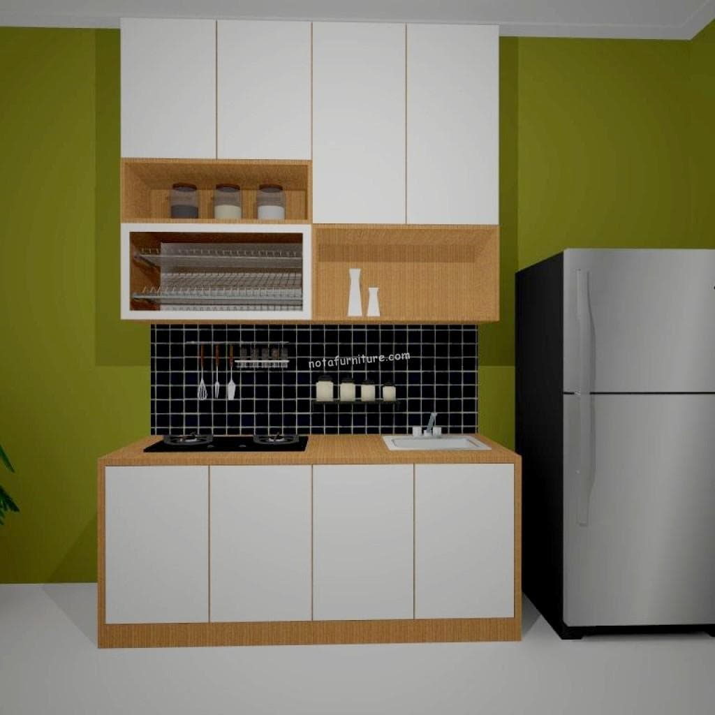 jual kitchen set model linear