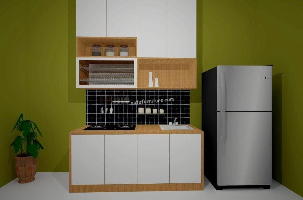 linear kitchen set sederhana