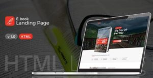 Books Landing Page – HTML Template
