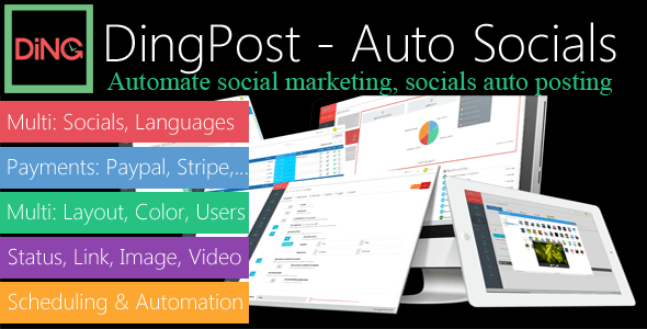 DingPost – Social Auto Poster, Auto Scheduler & Marketing Solutions