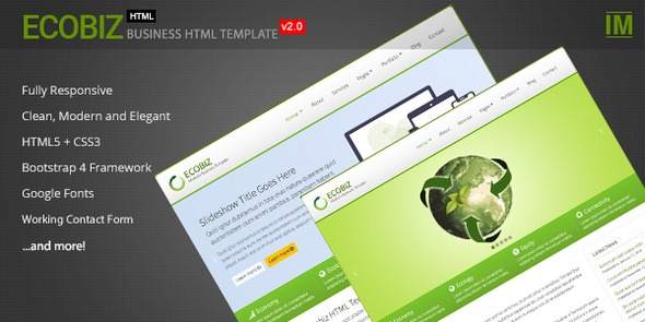 ECOBIZ –  Business and Corporate HTML Template