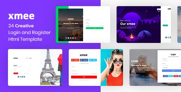 Xmee | Login and Register Form Html Templates
