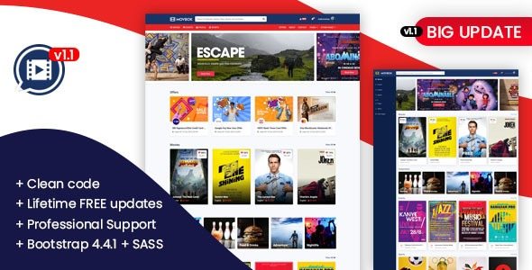 Movbok – Movies, Events, Sports Website HTML Template