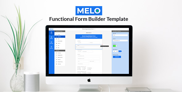 Melo Builder – Form Builder Interface HTML Template