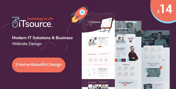 iTsource – IT Solutions & Services HTML Template