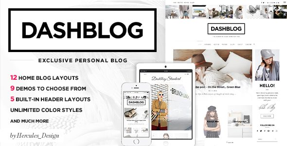Dash – Simple and Clean Personal WordPress Blog Theme