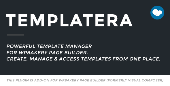 Templatera – Template Manager for WPBakery Page Builder