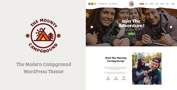 The Mounty | Hiking Campground & Children Camping WordPress ... Nulled