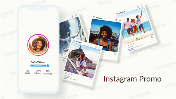 Short Instagram Profile Promo   After Effects Project