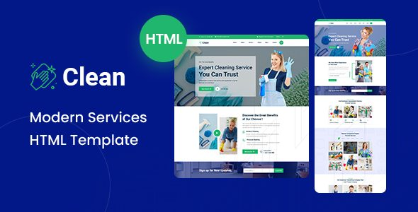 Clean - Modern HTML Template Nulled