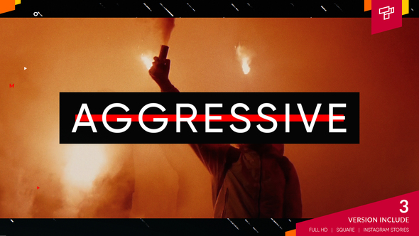Aggressive Sport Opener After Effects Project