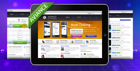 Aviance – Creative and Business HTML Template
