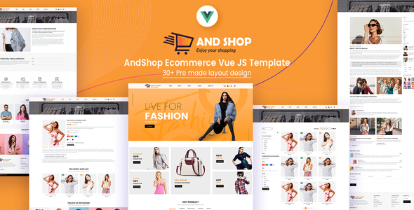 AndShop Ecommerce Vue JS Template Nulled