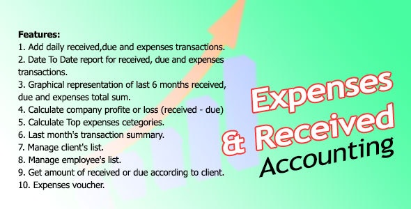 Expenses And Received Management System Nulled