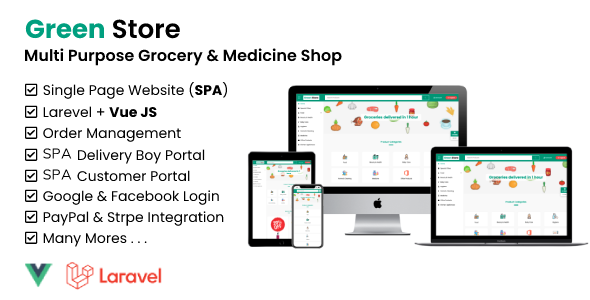 Green Store - Laravel & VUE Single Page Grocery Shop Nulled