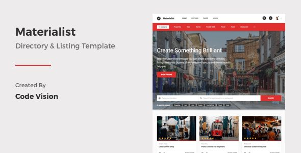 Materialist – Material Directory HTML Template