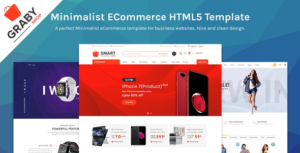 Graby Shop – Ecommerce HTML Template