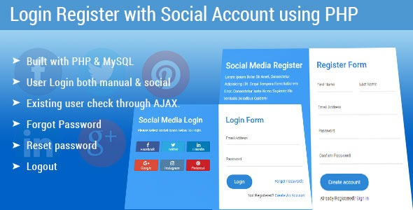 Login Register with Social Account using PHP