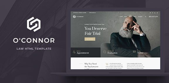 Oconnor – Lawyers and Law Firm HTML Template
