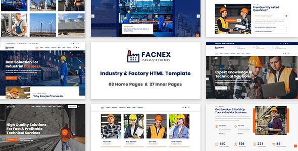 Facnex – Industry & Factory HTML Template