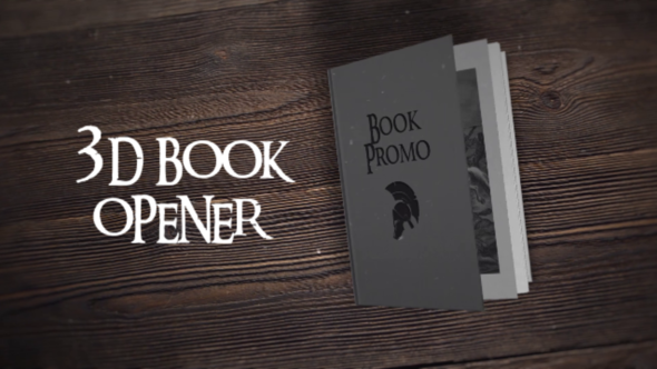 3D Book Opener After Effects Project
