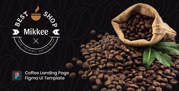 Mikkee – Coffee Landing Page HTML Template