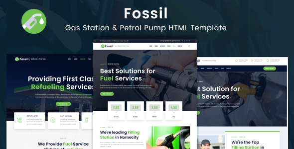 Fossil – Gas Station & Fuel Services HTML Template