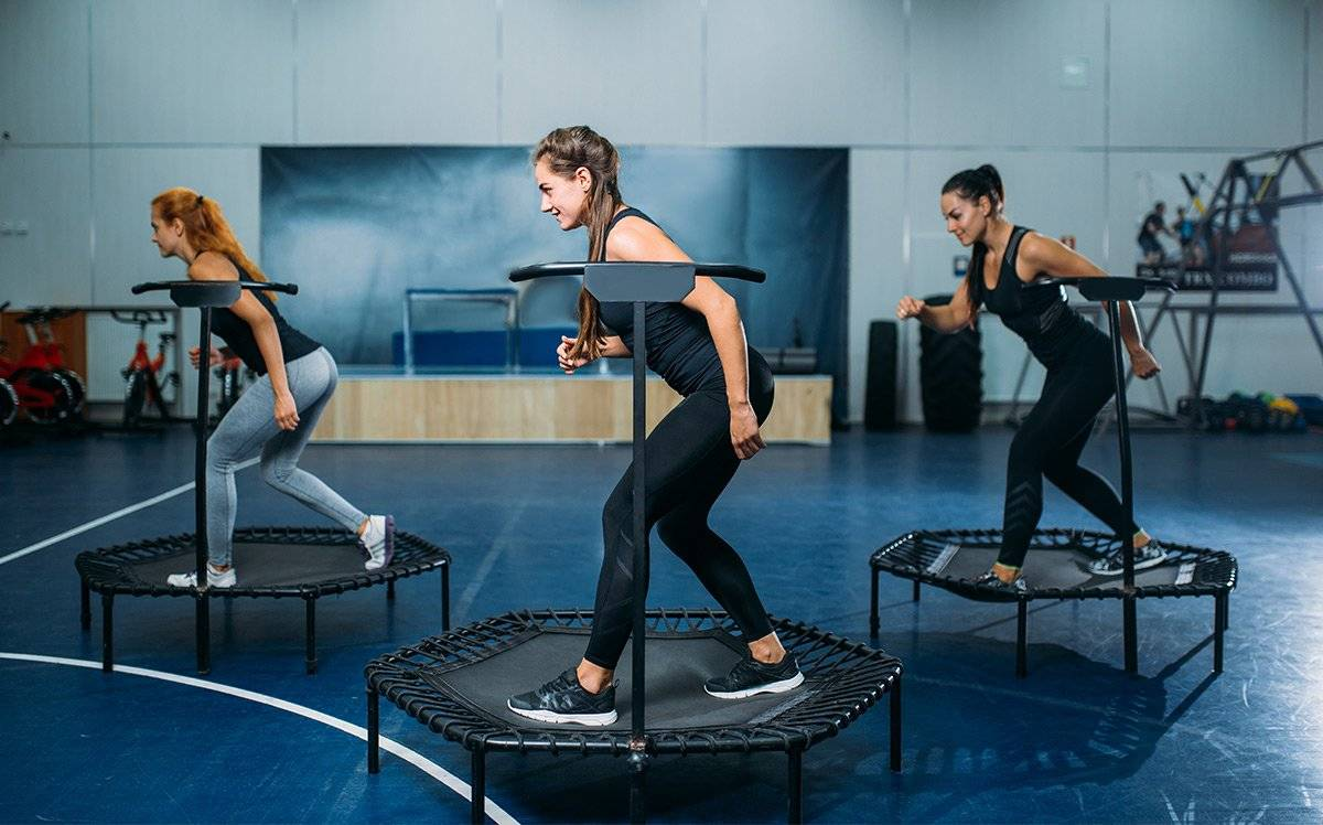 fitness workout exercice trampoline